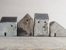 Set of four grey houses